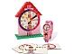 Gear No: 5001371  Name: Clock Set, Time-Teacher Minifigure Watch and Clock, Girl