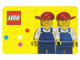Gear No: 850425card  Name: Business / Calling Card with 2 Minifigures on Back, Blank Lines on Front