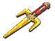 Gear No: 851336  Name: Sword, Ninja Fork Weapon (Sai with Fire Emblem)