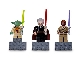 Gear No: 852555  Name: Magnet Set, Minifigures SW (3) - Yoda, Count Dooku, Mace Windu - with 2 x 4 Brick Bases