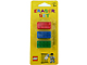 Gear No: 852706  Name: Eraser, LEGO Brick Set of 3 (Red, Blue & Green)