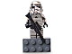 Gear No: 852737  Name: Magnet Set, Minifigure SW - Silver Stormtrooper Magnet Exclusive Anniversary Edition - with 2 x 4 Brick Base