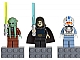 Gear No: 852947  Name: Magnet Set, Minifigures SW (3) - Kit Fisto, Barriss Offee, Captain Jag - with 2 x 4 Brick Bases