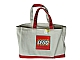 Gear No: 853261  Name: Tote Bag, Lego Logo Pattern, Red Handles and Bottom