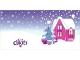 Gear No: Clikits261pb01  Name: Clikits Christmas Card with 3 Holes, Pink House Pattern