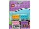 Gear No: LGO6565  Name: Eraser, Friends Brick Eraser Set of 4 (Bright Light Orange, Bright Pink, Medium Azure, Medium Lavender)