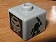 Gear No: bead004pb066  Name: Bead, Square with Bionicle Turaga Whenua and Ruru Pattern (P1704)
