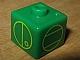 Gear No: bead004pb063  Name: Bead, Square with Matoran Alphabet L, E, W and A Pattern (P1703)