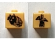 Gear No: bead004pb001  Name: Bead, Square with SW C-3PO and Escape Pod Pattern
