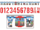 Gear No: 013051304522  Name: Party Jumbo Letter Birthday Banner Kit, City Police