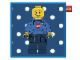 Gear No: 100221  Name: Bedding, Pillow - Minifig