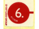 Gear No: 1251stk02  Name: Sticker for Set 1251 - Sheet 2, Number 6 in Red Circle (4117696)