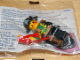 Gear No: 198561-1  Name: Pin, Captain Red Beard Minifigure with Red Parrot, Pocket Clip