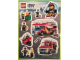 Gear No: 25067070  Name: Sticker, City Fire, Sheet of 9 Stickers
