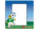 Gear No: 3812  Name: Photo Frame Magnetic LEGO Writing Systems - Soccer