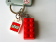 Gear No: 3917c  Name: 2 x 4 Brick - Red Key Chain with Lego Logo Tile, Modified 3 x 2 Curved with Hole