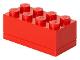 Gear No: 40121730  Name: Storage Brick 2 x 4 Mini (110ml) Red