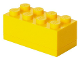 Gear No: 40121732  Name: Storage Brick 2 x 4 Mini (110ml) Yellow