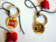 Gear No: 4185823  Name: Bionicle Key Chain 3 Virtues Logo / LEGO Logo - comes with red Krana mask