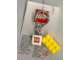 Gear No: 4202583  Name: 2 x 4 Brick - Yellow Key Chain with 2 x 2 Square Lego Logo Tile