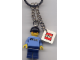 Gear No: 4213160a  Name: Minifigure Xtreme Skateboarder Key Chain with 2 x 2 Square Lego Logo Tile
