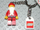 Gear No: 4224468  Name: Santa Key Chain with Lego Logo Tile, Modified 3 x 2 Curved with Hole