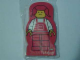 Gear No: 4227182  Name: Memo Pad Minifigure - (B) Red Pigtails, Overalls