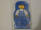 Gear No: 4229615  Name: Memo Pad Minifigure - (G) Overalls Blue