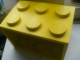 Gear No: 4503092  Name: Brick 2 x 3 Stackable CD Holder Yellow