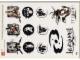 Gear No: 4530145  Name: Sticker, Bionicle Phantoka Theme, Sheet of 12 Stickers
