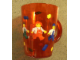 Gear No: 4544966  Name: Food - Cup / Mug, Minifigures Pattern Red