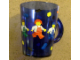 Gear No: 4544967  Name: Food - Cup / Mug, Minifigures Pattern Blue