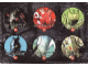 Gear No: 4550608  Name: Sticker, Bionicle Glatorian Theme, Sheet of 6 Stickers