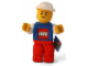 Gear No: 4601a  Name: Boy with Blue Top with LEGO Logo and White Sleeves, Red Legs Figure Plush