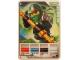 Gear No: 4643537  Name: Ninjago Masters of Spinjitzu Deck #2 Game Card 1 - Lloyd ZX - International Version