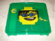 Gear No: 498935  Name: Project Case Minifigure Head Green with Baseplate