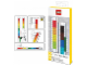 Gear No: 5005107  Name: Ruler, Buildable Ruler - Multicolor Plates with Green Baseplates