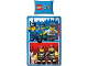 Gear No: 5055285346263  Name: Bedding, Duvet Cover and Pillowcase (135 x 200 cm) - City Fire and Police Minifigures