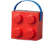 Gear No: 5711938023676  Name: Lunch Box, Brick 2 x 2 with Handle, Red