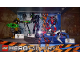 Gear No: 6003387  Name: Display Assembled Set, Hero Factory Sets  6202, 6203, 6293, 6216 in Plastic Case with Light