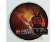 Gear No: 6012301  Name: Sticker, Star Wars Round Hologram - Shirtless Darth Maul