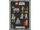 Gear No: 6112080  Name: Sticker, Star Wars Microfighters, Sheet of 8