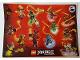 Gear No: 6166709  Name: Sticker, Ninjago Masters of Spinjitzu, Battle Stickers, Sheet of 13