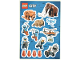 Gear No: 6246390  Name: Sticker, City Arctic, Sheet of 14 Stickers