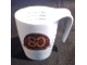 Gear No: 80yearsmug  Name: Food - Cup / Mug, '80' and 'Det bedste er ikke for Godt' with 80 Years List Measurements on Inside Pattern
