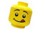 Gear No: 81010d  Name: Sort & Store Minifigure Head - Cheeky Face Pattern (with Tongue)