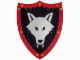 Gear No: 850088  Name: Shield, Wolfpack Pattern on Red Border
