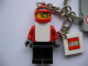 Gear No: 850495  Name: Snowboarder Key Chain with 2 x 2 Square Lego Logo Tile