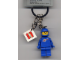 Gear No: 850759  Name: Classic Space Blue Figure Key Chain with 2 x 2 Square Lego Logo Tile