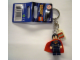 Gear No: 850813  Name: Superman Dark Blue Suit Key Chain with Lego Logo Tile, Modified 3 x 2 Curved with Hole